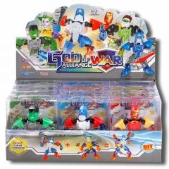 儿童变形玩具系列 变形机器人战神联盟 【6款混装】展示盒12只装