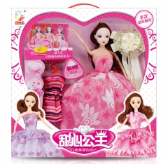 儿童玩具芭比娃娃系列  实身芭芘甜心公主系列
